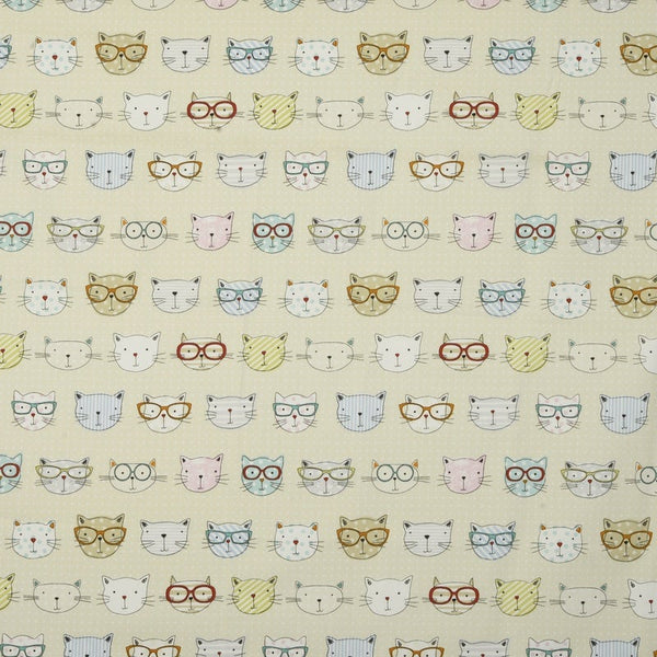 Cool Cats Curtain Fabric Multi