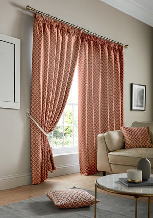 Cotswold Ready Made Lined Curtains Orange