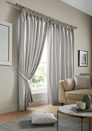 Cotswold Ready Made Lined Curtains Silver
