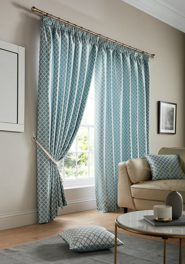 Cotswold Ready Made Lined Curtains Teal
