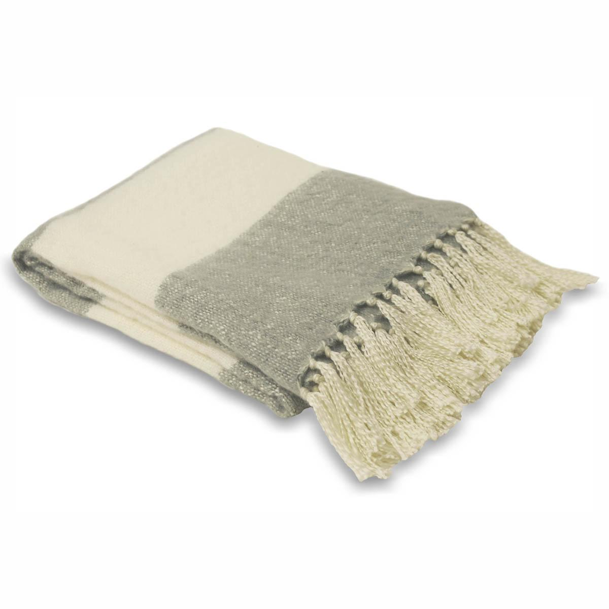 Riva Cushions And Throws Gloucester/Cotswolds Throw Dove Grey Picture