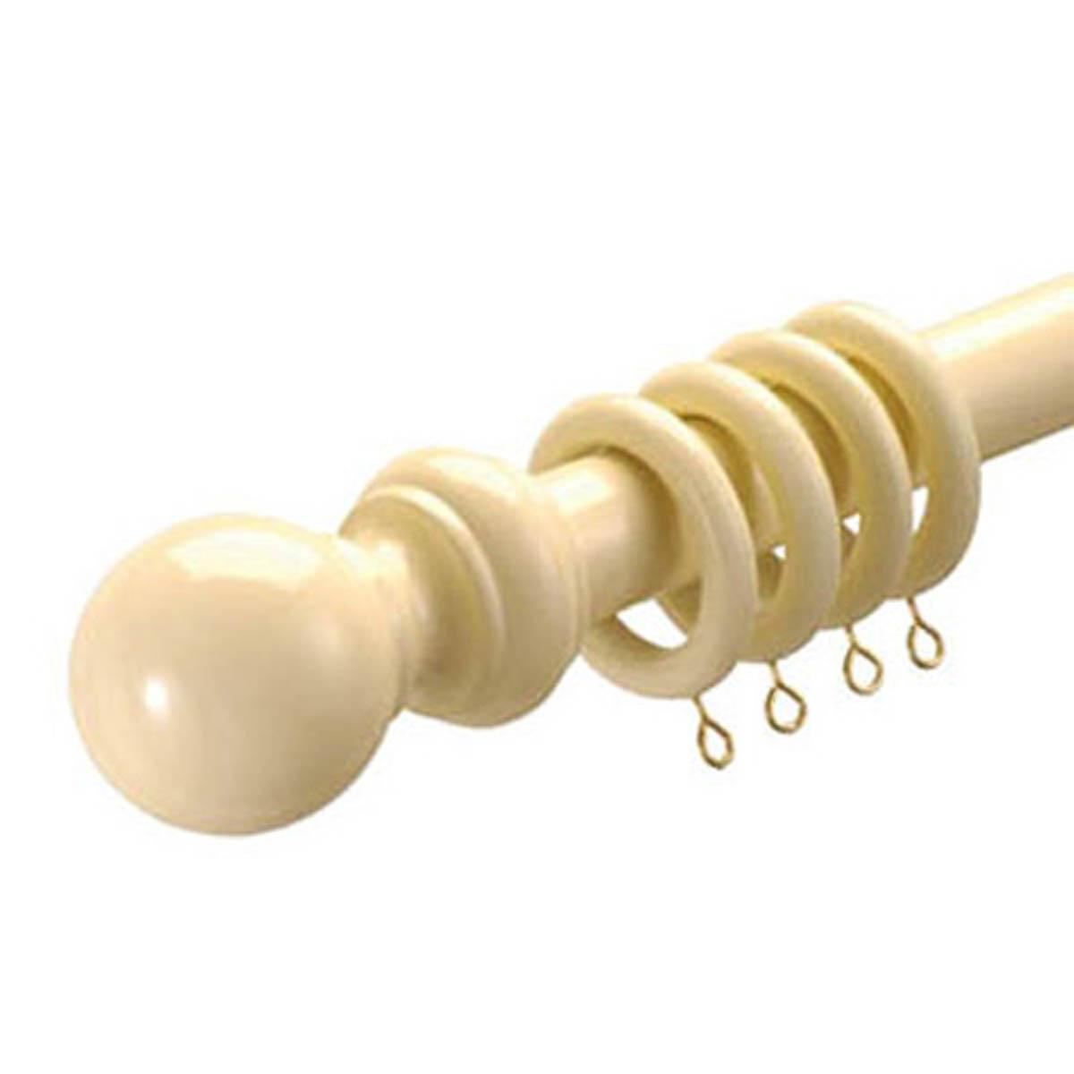 Speedy Curtain Poles 28mm County Wood Curtain Pole Cream Picture