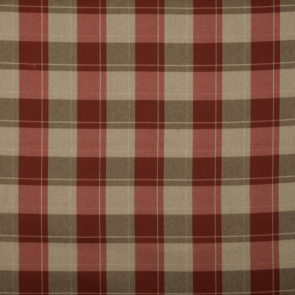 Croft Check Roman Blind Cranberry