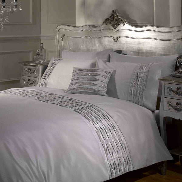 Crystal Bedding Set Silver