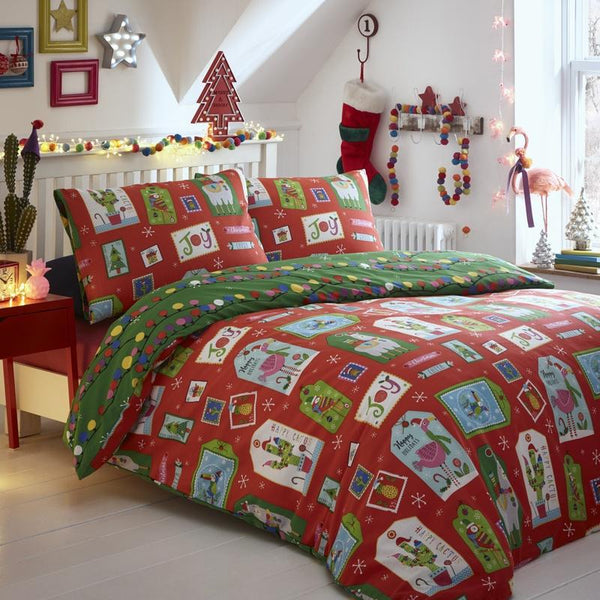 Curious Christmas Bedding Set Multi