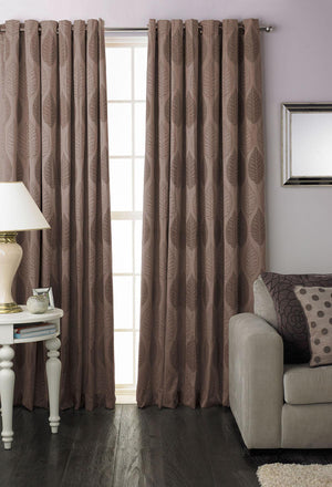 Dalby Ready Made Eylet Curtains Mocha