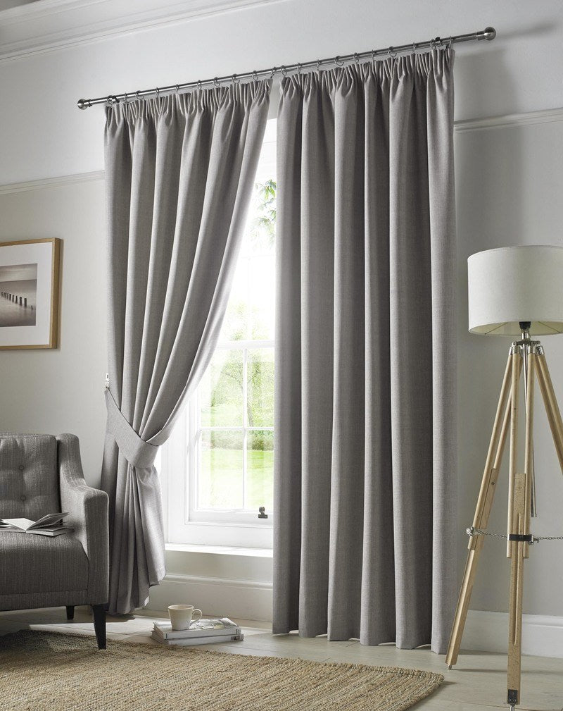 Ashley Wilde Ready Made Curtains  Darwin Ready Made Blackout Curtains Grey