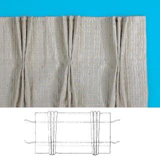 Pinch Pleat Curtain Tape Pack White