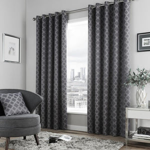 Denby Ready Made Curtains Charcoal