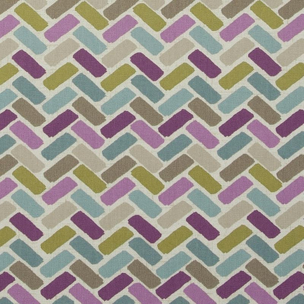 Maya Curtain Fabric Heather