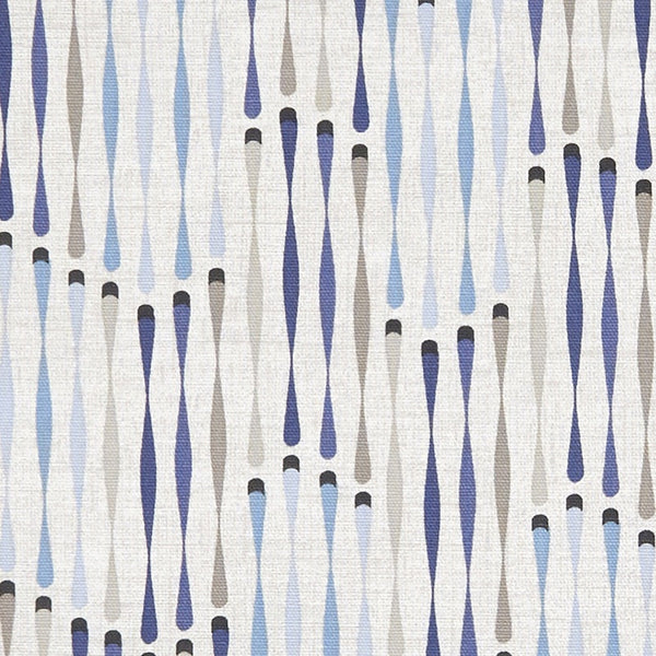 Cassandra Curtain Fabric Denim