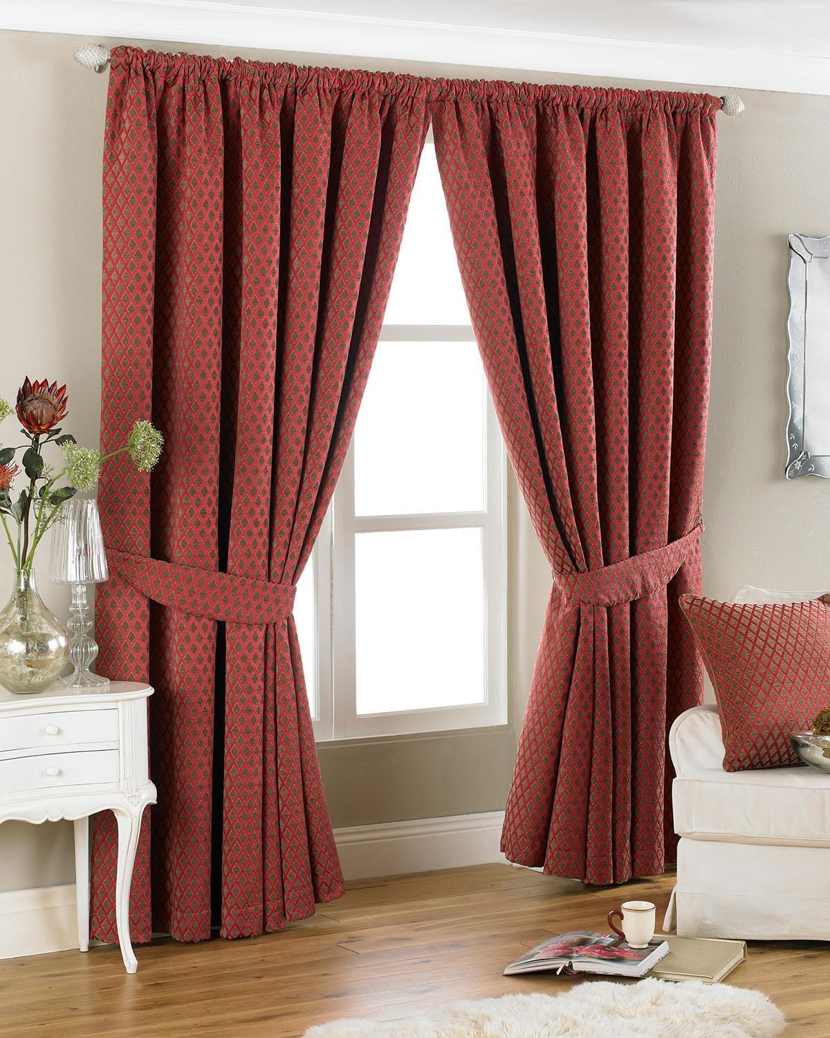 Riva Ready Made Curtains  Devere Ready Made Curtains Burgundy