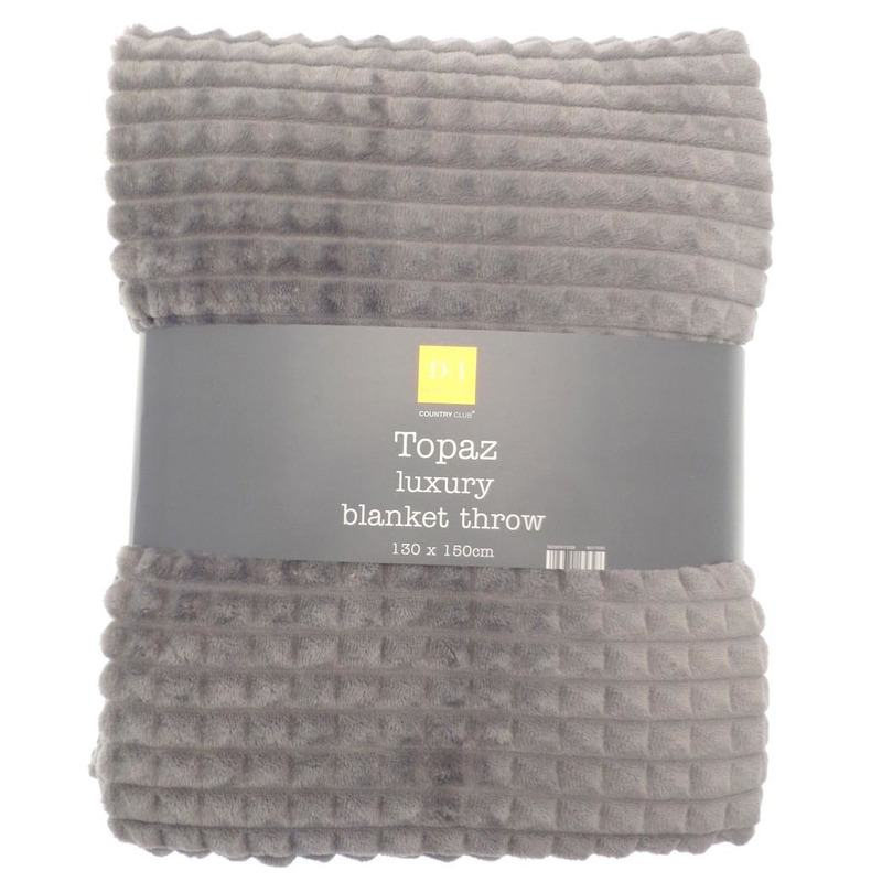 Beamfeature Cushions And Throws Topaz Fleece Blanket Charcoal Picture