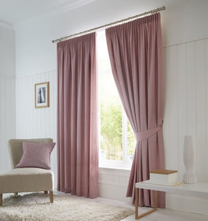 Dijon Ready Made Blackout Curtains Blush