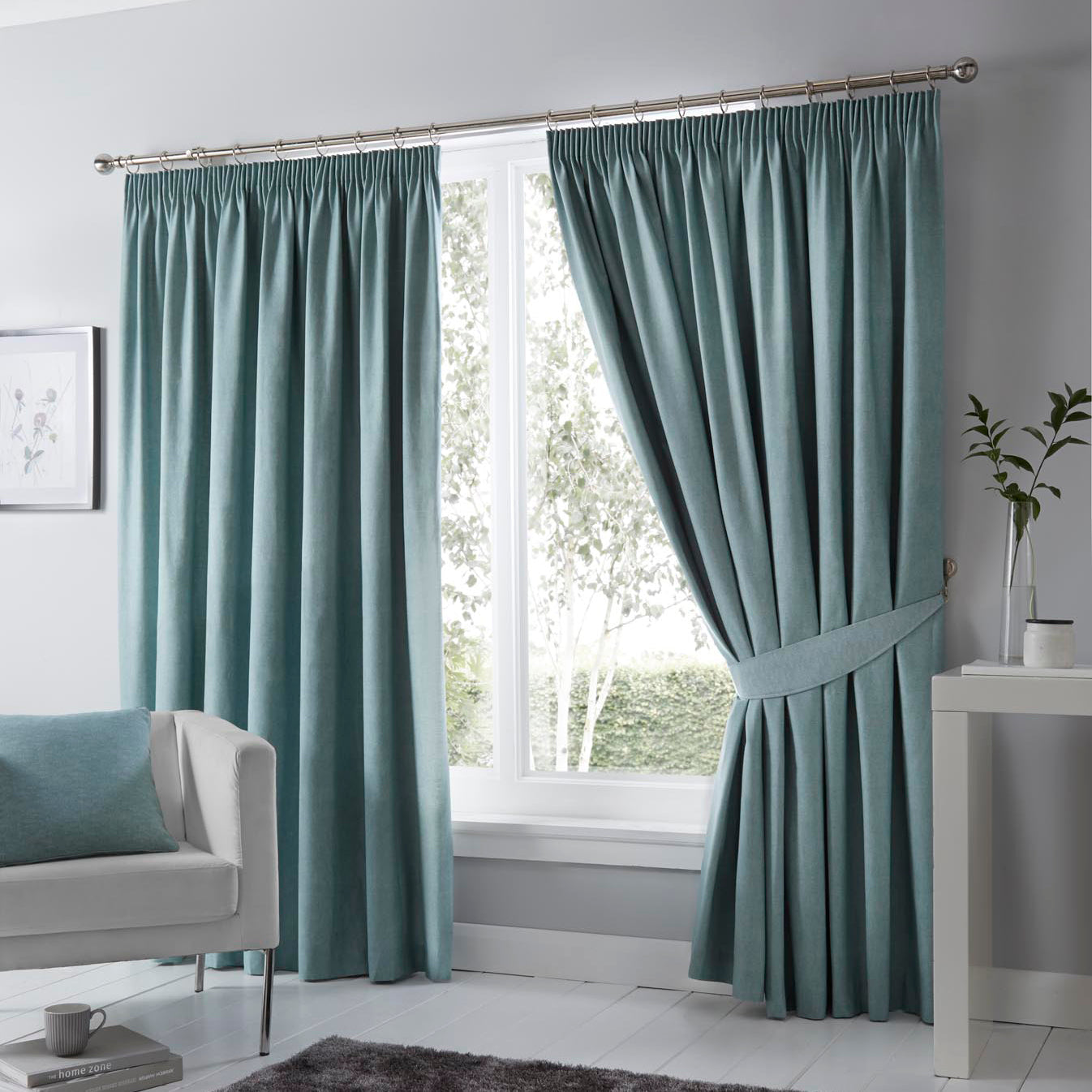 J Rosenthal Ready Made Curtains Dijon Ready Made Blackout Curtains Duckegg Picture