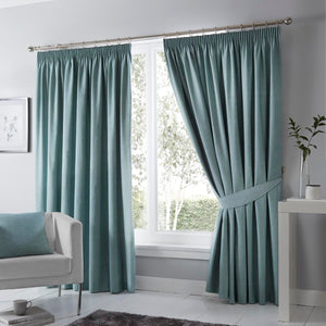 Dijon Ready Made Blackout Curtains Duckegg