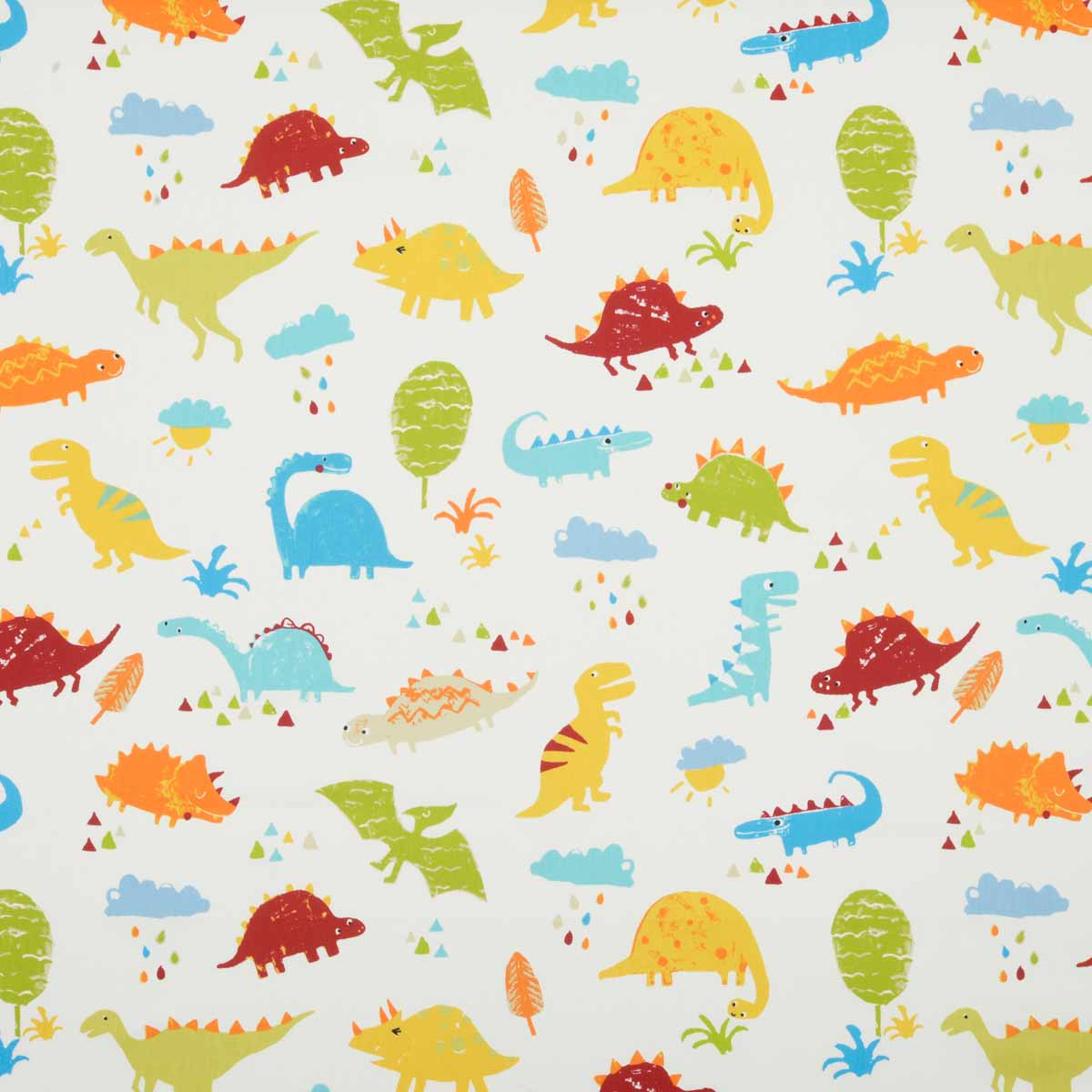 Dino Curtain Fabric Paintbox