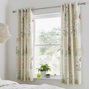 Dionne Ready Made Eyelet Curtains 66'' x 72'' Multi