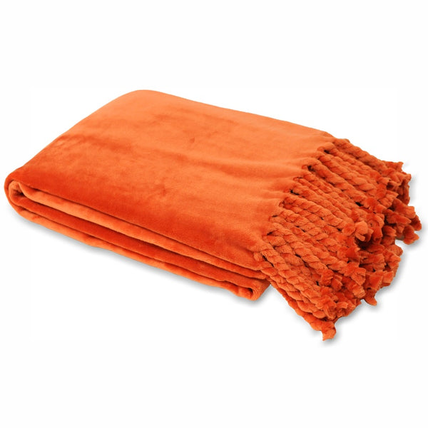 Dorset Throw Burnt Orange