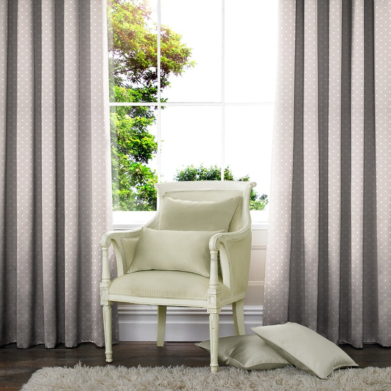 Gordon John M2M Dotty Made to Measure Curtains Taupe Picture
