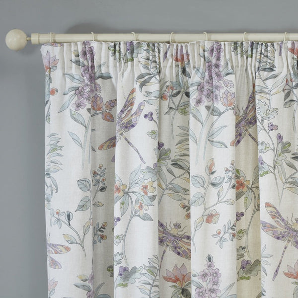 Dragonfly Ready Made Lined Curtains Heather