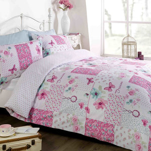 Dream Patchwork Bedding Set Pink