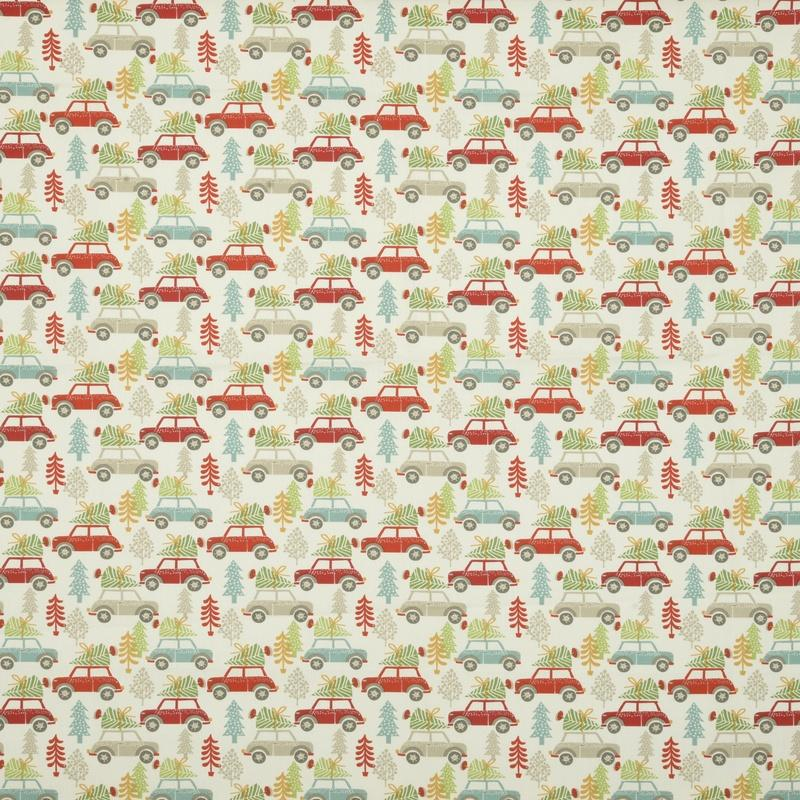 Clarke And Clarke Fabrics Driving Home Curtain Fabric Multi Picture