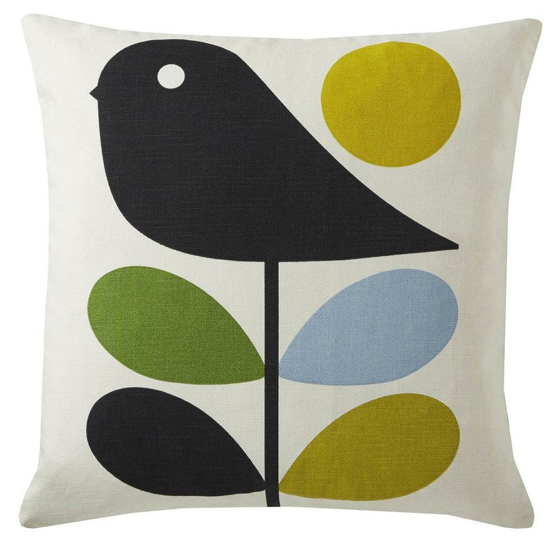 Ashley Wilde Cushions And Throws  Orla Kiely - Early Bird Filled Cushion Duck Egg