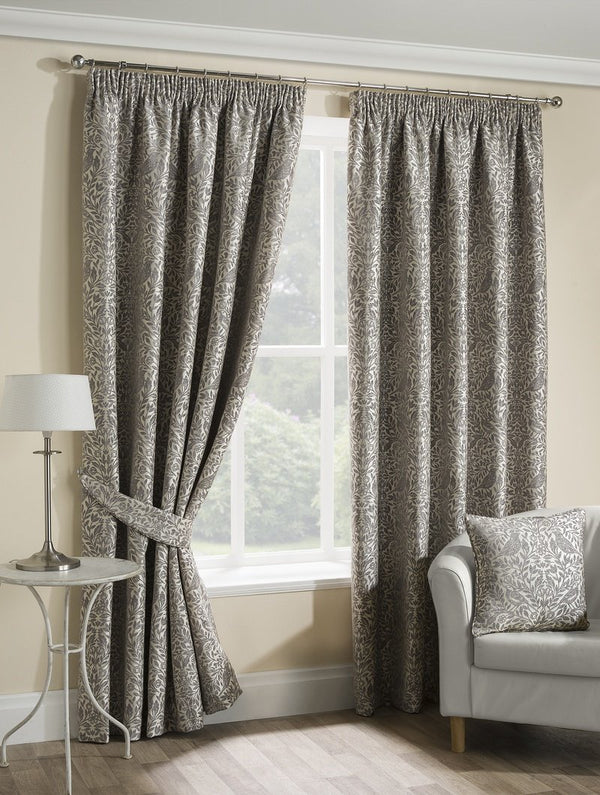 Eden Ready Made Lined Curtains Steeple Grey