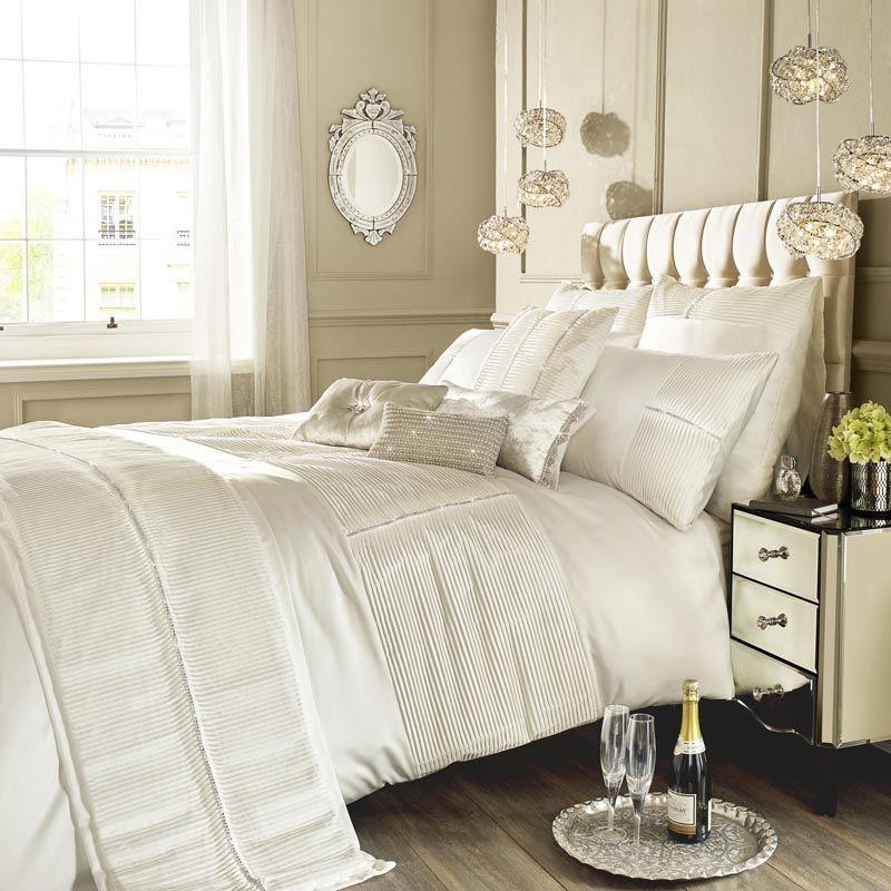 Ashley Wilde Bedding  Kylie Minogue Eleanora Luxury Bedding In Oyster