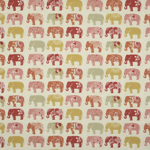 Elephants Curtain Fabric Spice