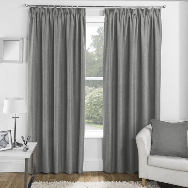 Essence Ready Made Thermal Blackout Curtains Grey