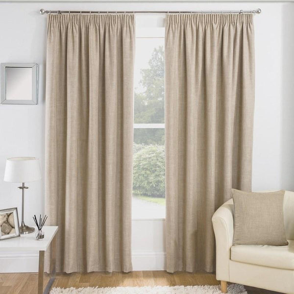 Essence Ready Made Thermal Blackout Curtains Natural