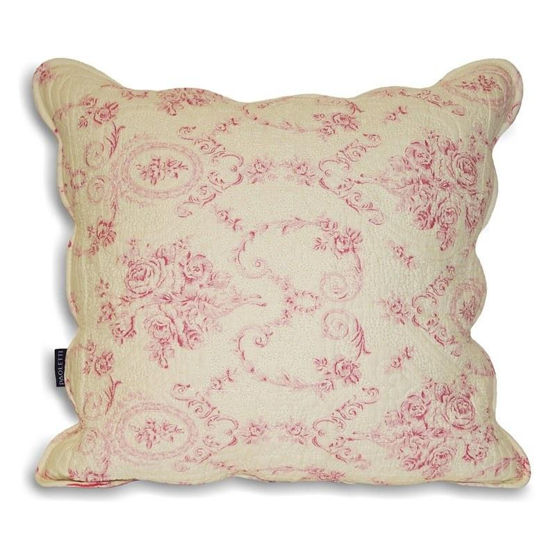Riva Cushions And Throws Etoille Toile De Jouy Cotton C/Cover Pink Picture
