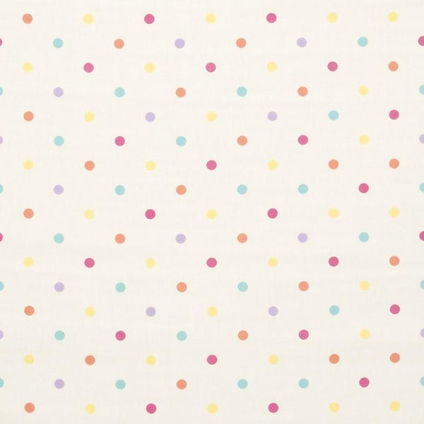 Dotty Curtain Fabric Sunshine