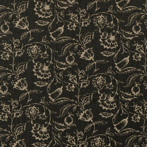 Marie Curtain Fabric Charcoal