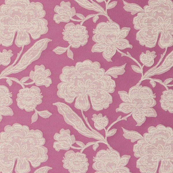 Downham Curtain Fabric Raspberry