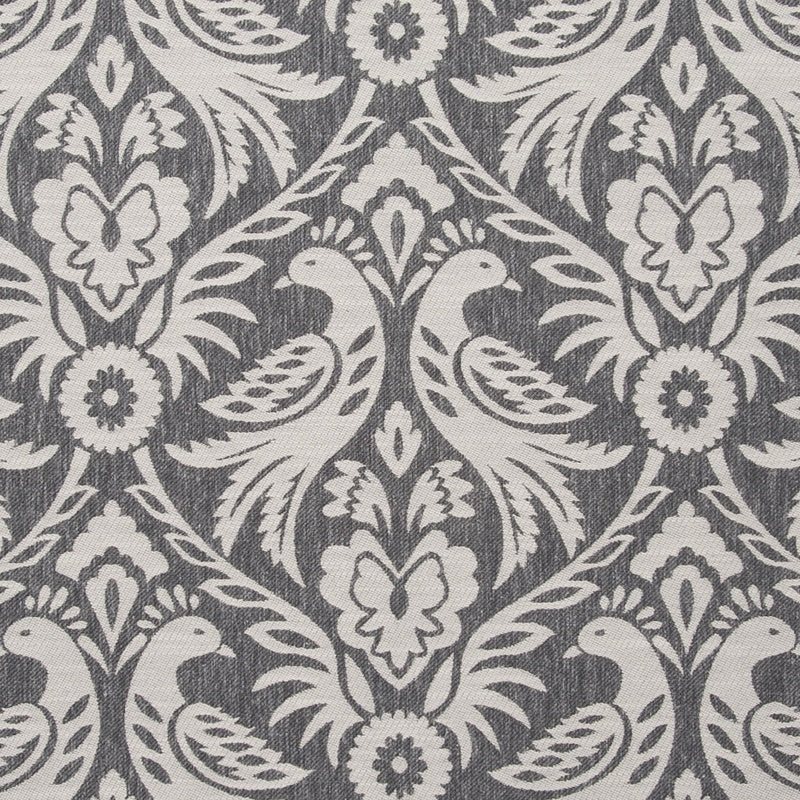 Clarke And Clarke Fabrics Harewood Curtain Fabric Charcoal Picture