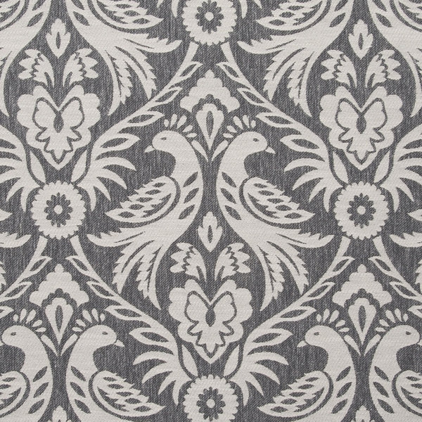 Harewood Curtain Fabric Charcoal