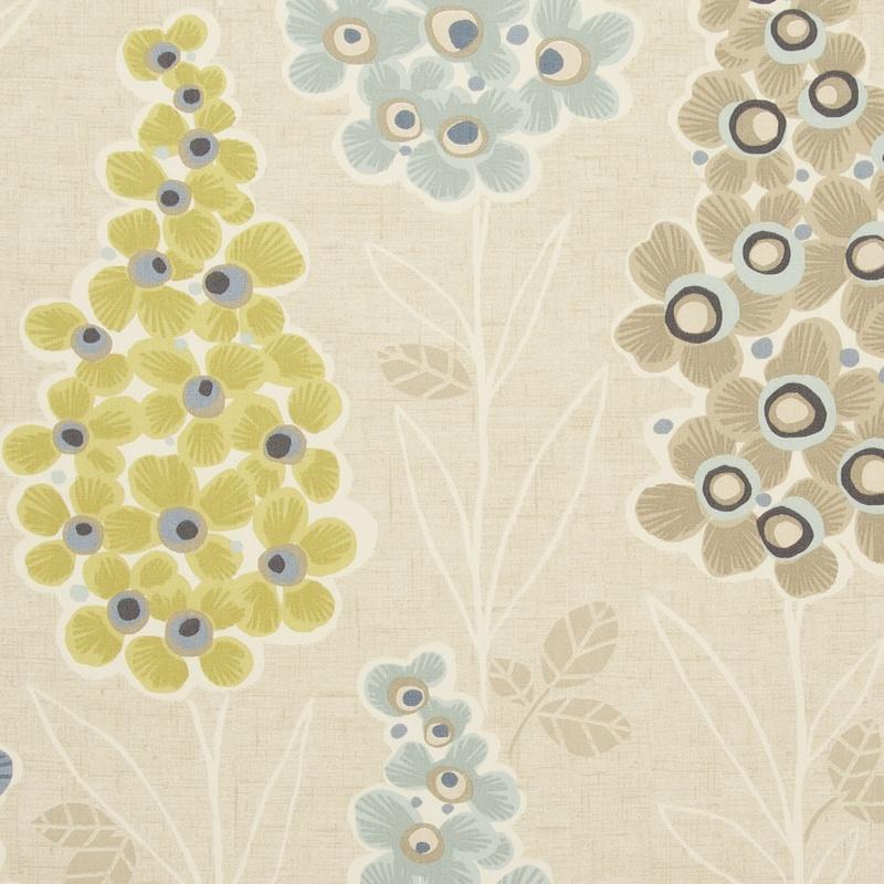 Clarke And Clarke Fabrics Mustique Curtain Fabric Mineral Picture