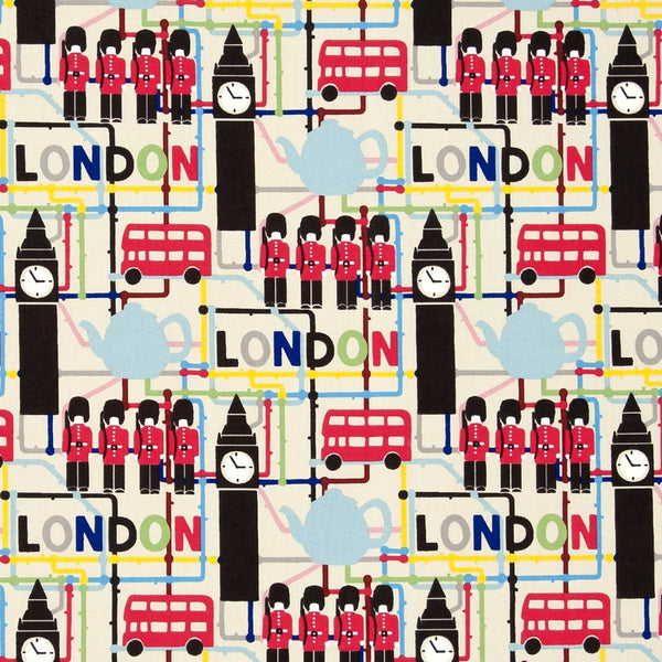 London Curtain Fabric Multi