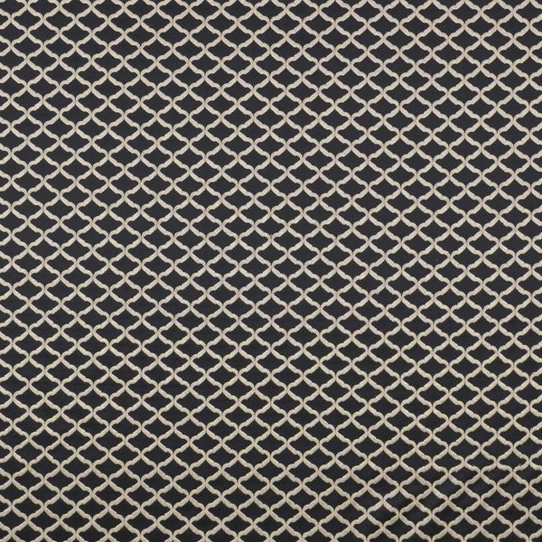 Reggio Curtain Fabric Ebony