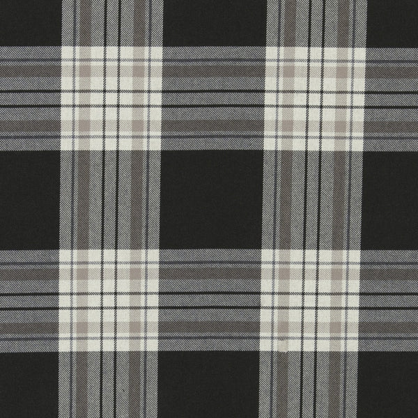 Glenmore Curtain Fabric Charcoal