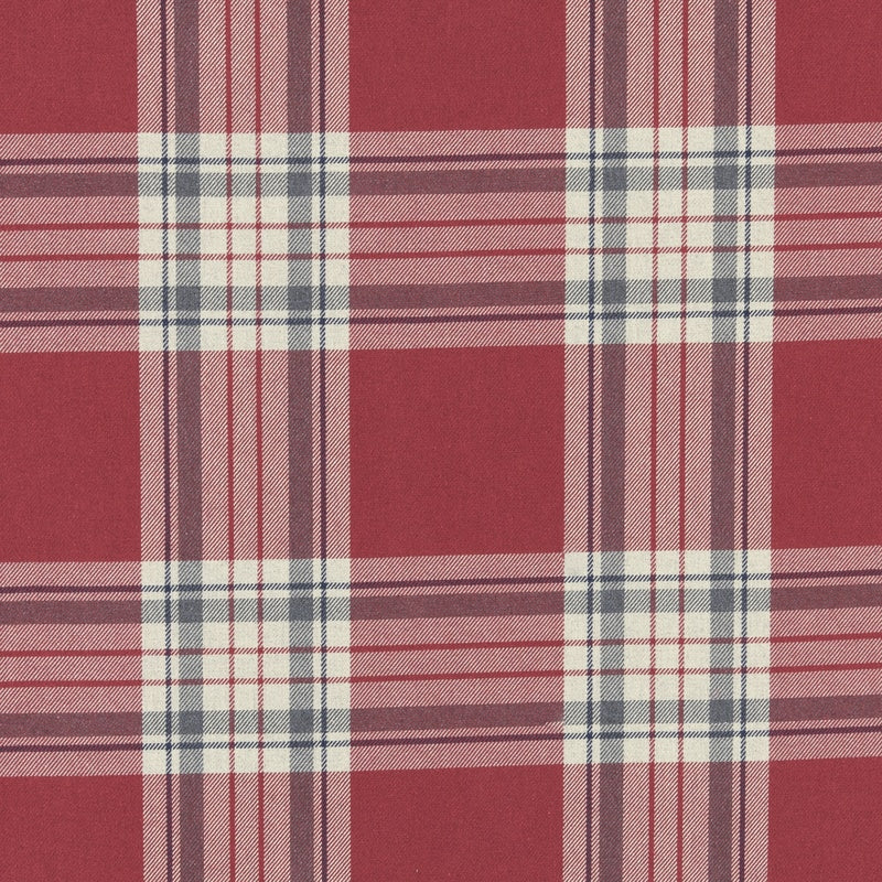 Clarke And Clarke Fabrics Glenmore Curtain Fabric Red Picture