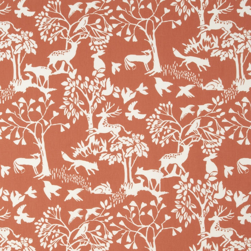 Clarke And Clarke Fabrics Vilda Curtain Fabric Cinnamon Picture
