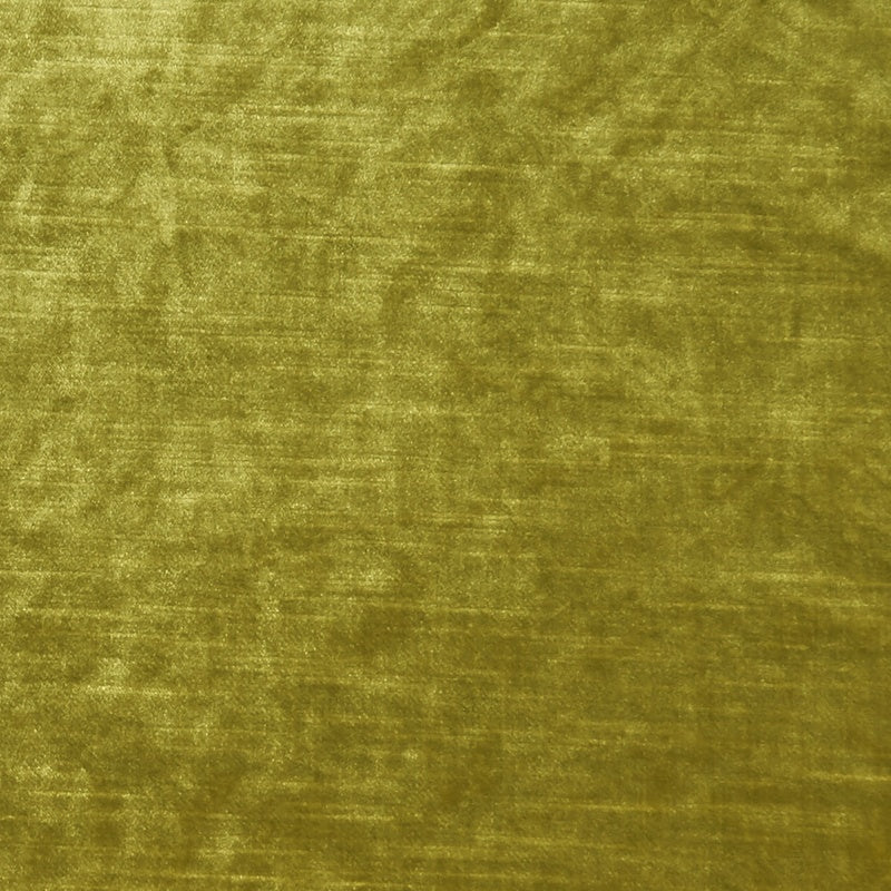 Clarke And Clarke Fabrics Allure Velvet Curtain Fabric Chartreuse