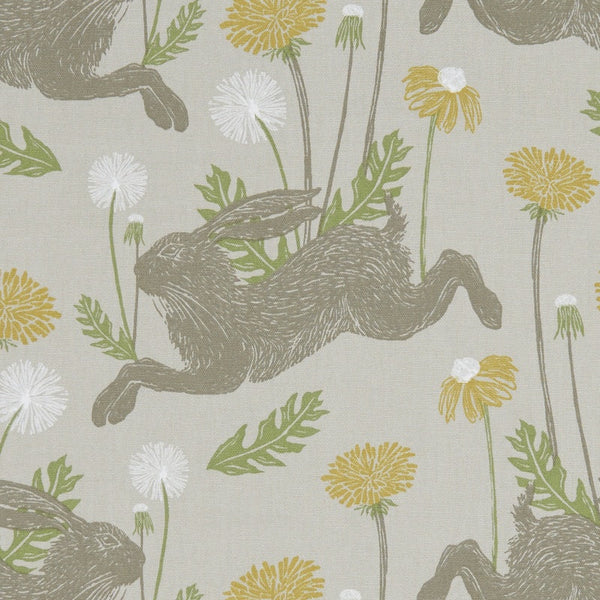 March Hare Curtain Fabric Linen