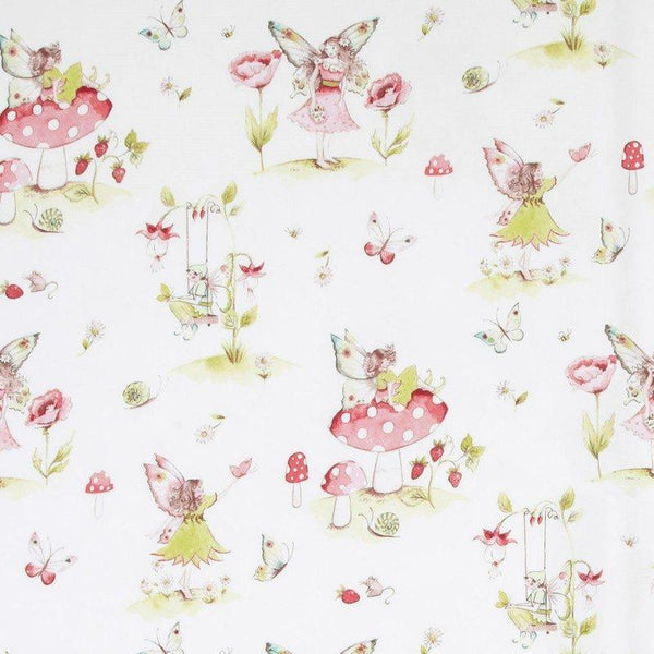 Fairy Tale Curtain Fabric Pink