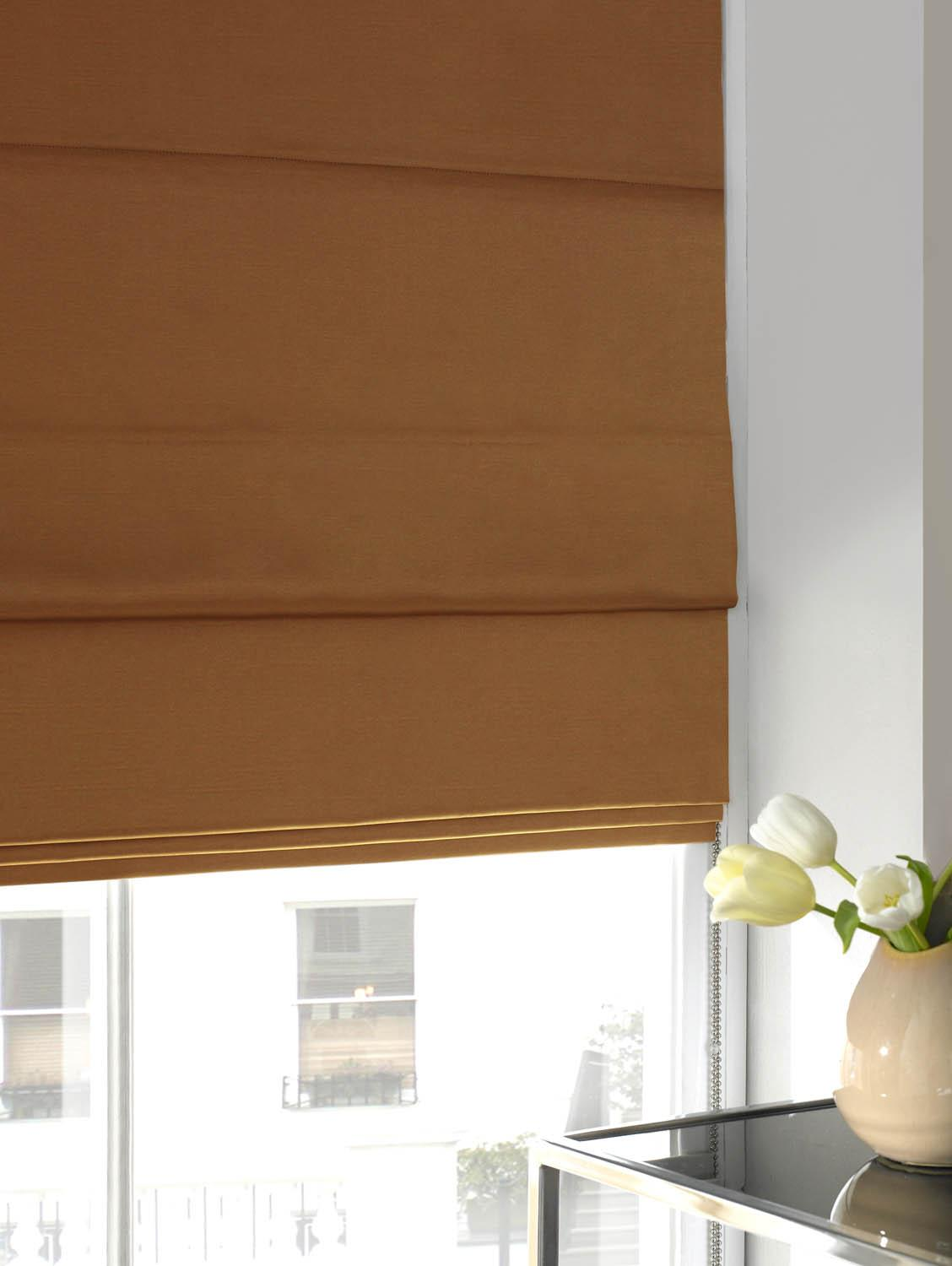 Illuminate Blinds Faux Silk Roman Blind Spice Picture