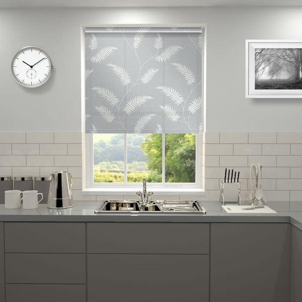 Fern Roller Blind Steel